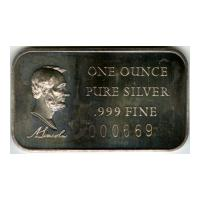 Image: Abraham Lincoln silver bar