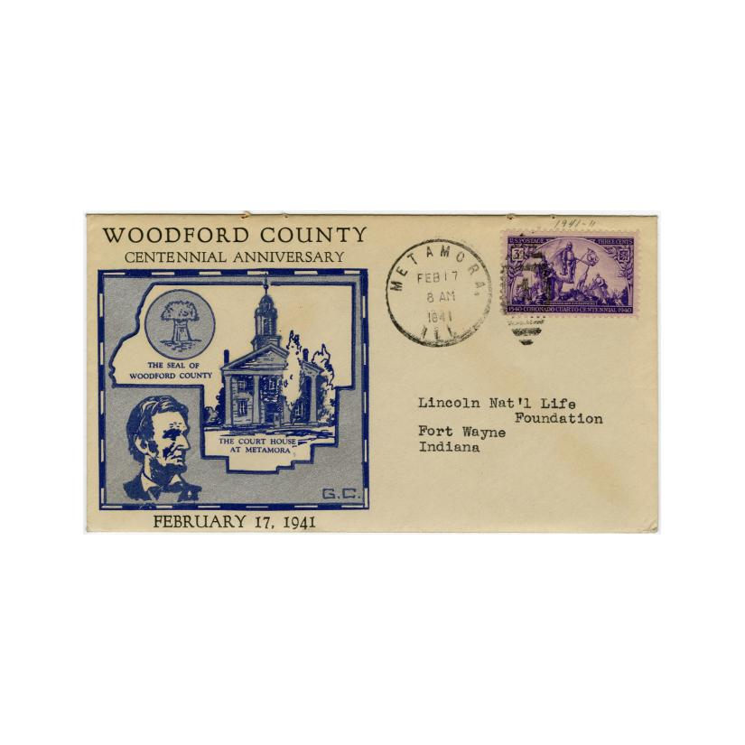 Image: Woodford County Centennial Anniversary cachet