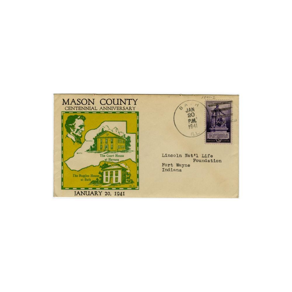Image: Mason County Centennial Anniversary cachet