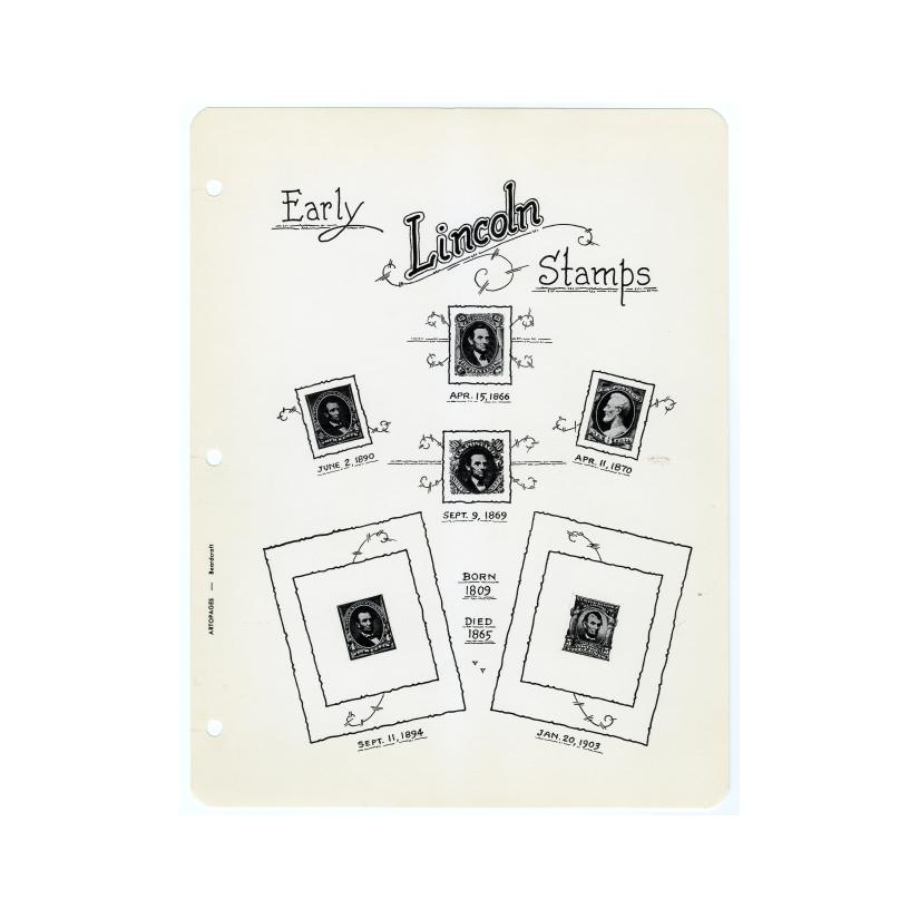 Image: A. Lincoln U. S. Stamps and Covers, 1866 thru 1960