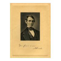 Image: Beardless Abraham Lincoln engraving