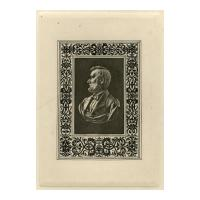 Image: Engraving of bust of President Abraham Lincoln