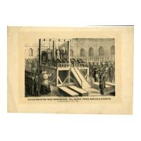 Image: Execution of the Four Conspirators: Mrs. Surrat, Payne, Harold & Atzeroth