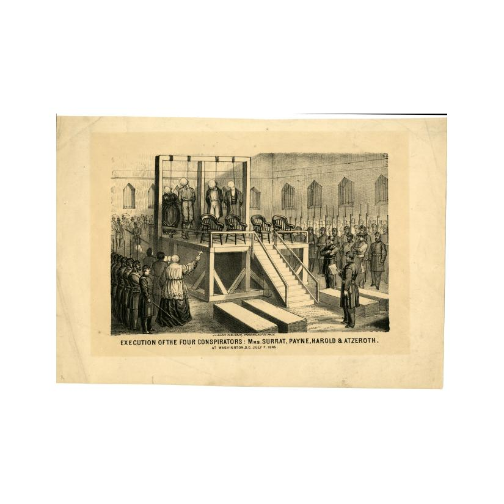 Image: Execution of the Four Conspirators: Mrs. Surrat, Payne, Harold & Atzeroth