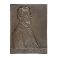 Image: Abraham Lincoln bah- relief plaque