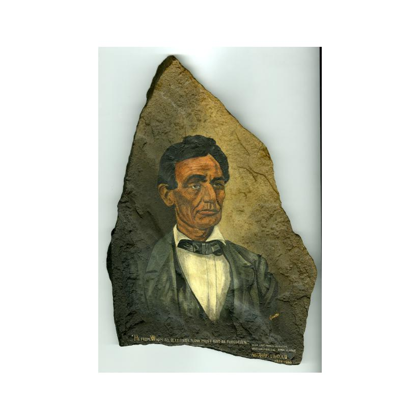 Image: Lincoln's Portrait on Stone