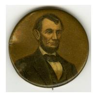 Image: 32 mm Lincoln pinback button
