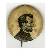 Image: 25 mm Lincoln celluloid pinback button