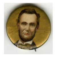 Image: 22 mm Lincoln pinback button