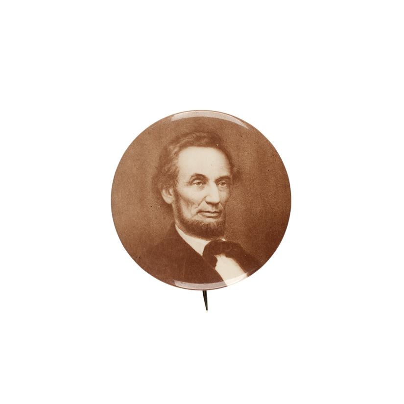 Image: 56 mm Abraham Lincoln pinback button