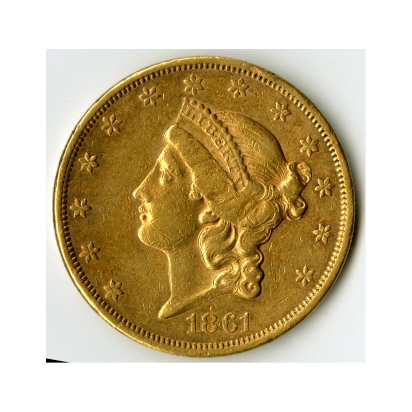 Image: 1861 Liberty Head Double Eagle 20-Dollar Coin