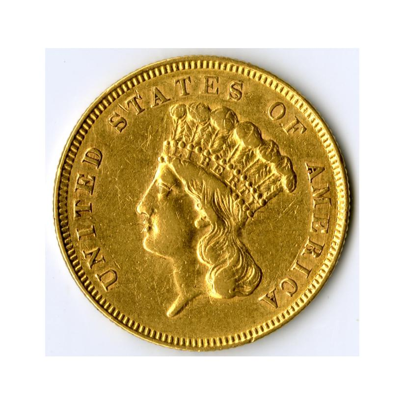 Image: 1862 Liberty Head Three-Dollar Coin