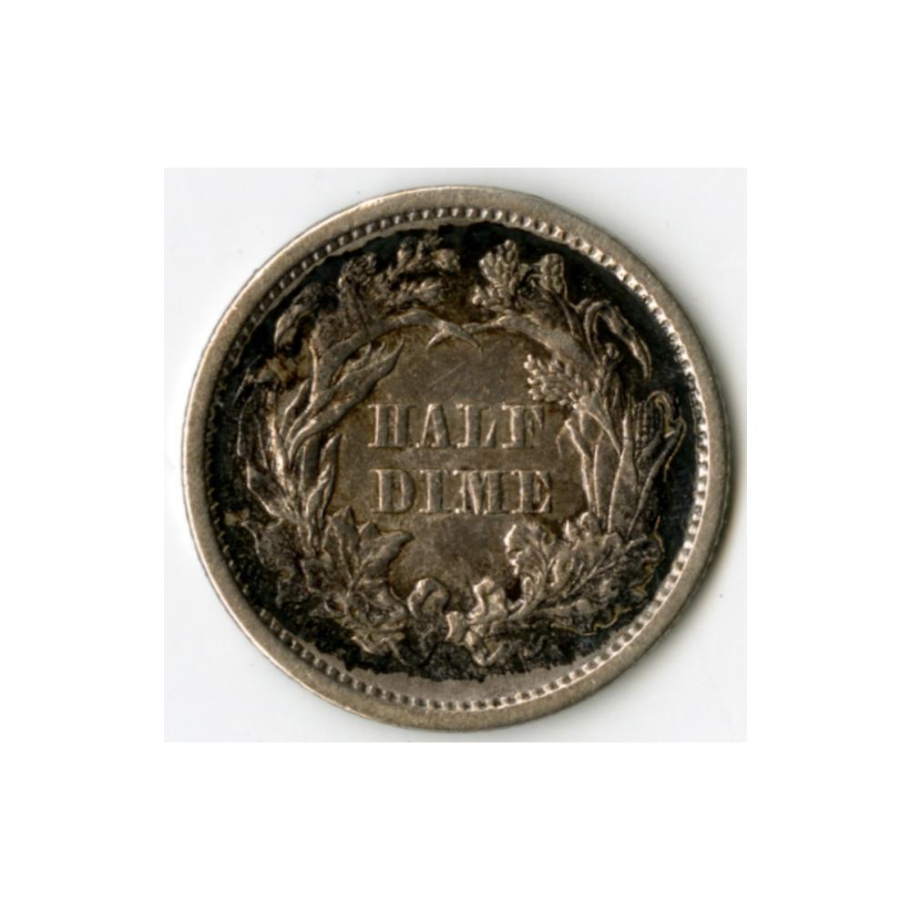 Image: 1861 Seated Liberty Half Dime