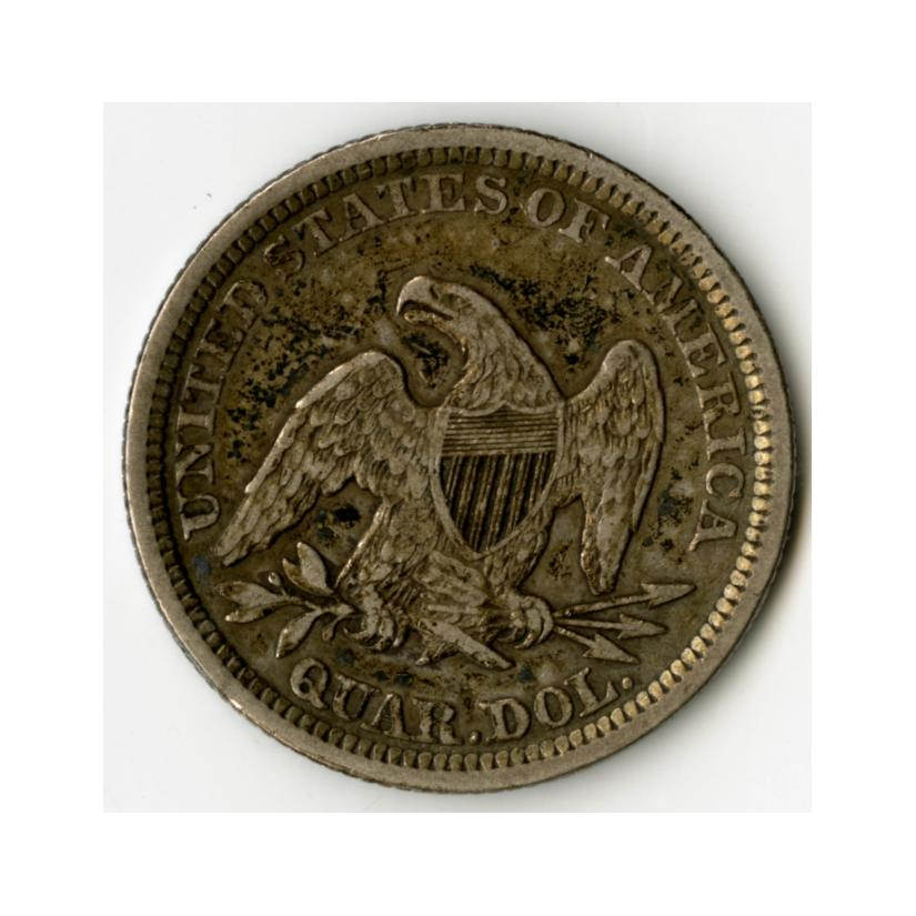 Image: 1861 Seated Liberty Quarter Dollar Coin