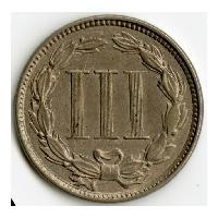 Image: 1865 Nickel Three-cent coin