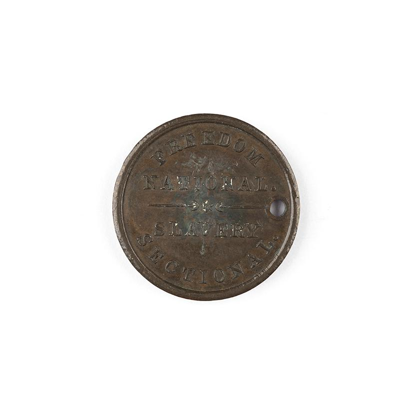 Image: 1860 Freedom National, Slavery Sectional campaign medal