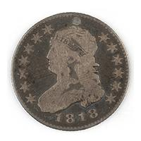 Image: 1818 Liberty Head 85-cent Coin
