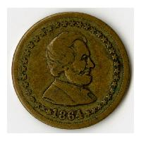 Image: 1864 Lincoln and Union Patriotic Token