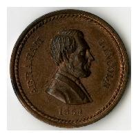 Image: 1864 Abraham Lincoln Patriotic Token