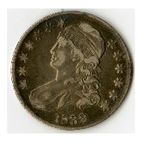 Image: 1832 Liberty Bust Fifty-cent piece