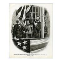 Image: Abraham Lincoln Raising the Flag Over Independence Hall