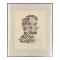 Image: Calligraphic Lincoln portrait