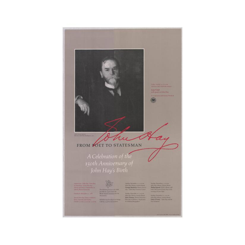 Image: From Poet to Statesman: A Celebration of the 150th Anniversary of John Hay's Birth  poster