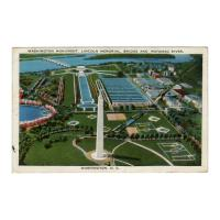 Image: Washington Monument, Lincoln Memorial, Bridge and Potomac River