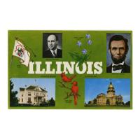 Image: Illinois: the Land of Lincoln and Stevenson postcard