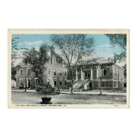 Image: City Hall and Public Library, Beardstown, Ill.