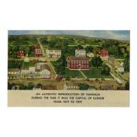 Image: Reproduction of Vandalia, Illinois, from 1819-1839