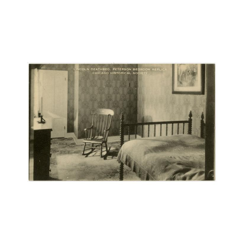 Image: Lincoln Deathbed, Peterson Bedroom Replica at Chicago Historical Society