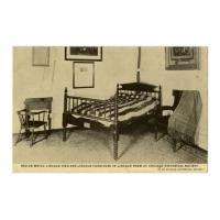 Image: Bed on Which Lincoln Died and Lincoln Furniture in Lincoln Room at Chicago Historical Society