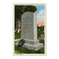 Image: Memorial to Lincoln's Father and Mother at Shiloh Cemetery, Charleston, Illinois