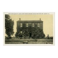 Image: First Court House of Logan County, Lincoln, Ill.