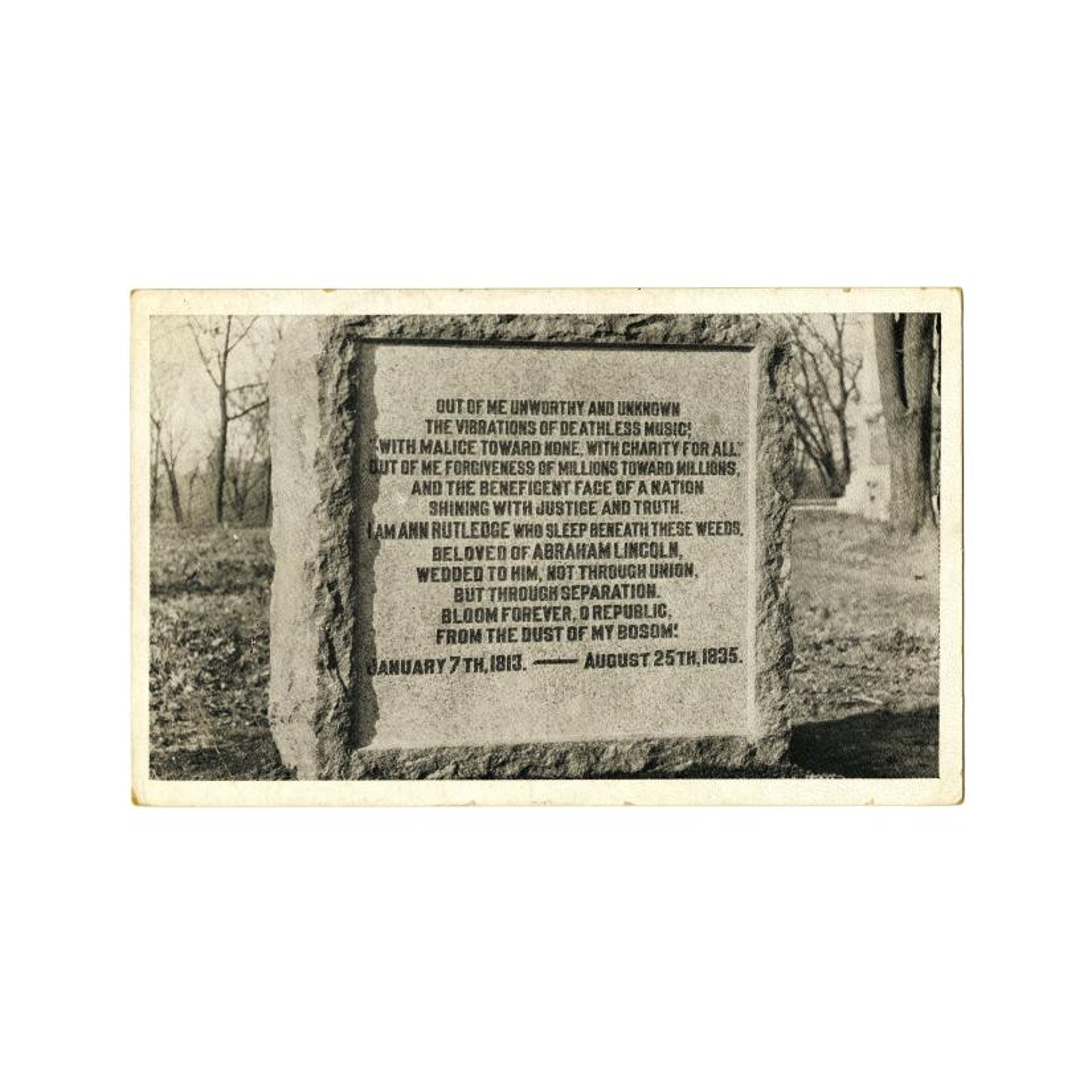 Image: Ann Rutledge Monument