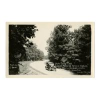 "Image: Auto Going East ""Lincoln Memorial National Highway"""