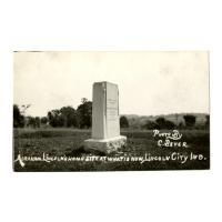 Image: Abraham Lincoln's Home Site at What Is Now, Lincoln City, Ind.