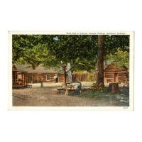 Image: West End of Lincoln Pioneer Village, Rockport, Indiana