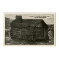 Image: Lincoln's First School on Knob Creek--From an Old Painting