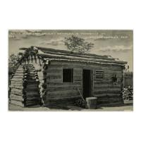 Image: Replica of Abraham Lincoln's Birthplace in Hodgenville, Ky., Chicago World's Fair