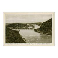 Image: Where Three States Meet--Harper's Ferry, W. Va., on the Baltimore & Ohio Railroad