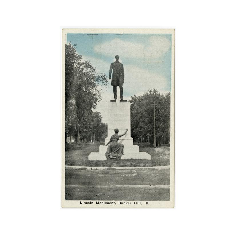 Image: Lincoln Monument, Bunker Hill, Ill.