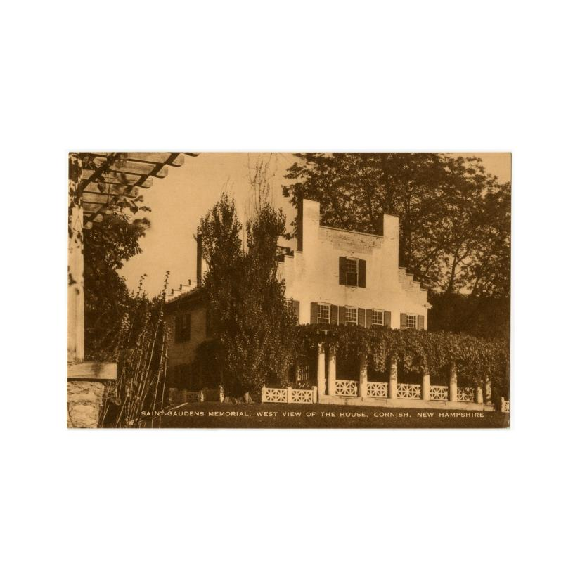 Image: Saint-Gaudens Memorial, West View of the House, Cornish, New Hampshire