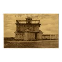 Image: Restored Blockhouse, Fort McKeen, Fort Lincoln State Park