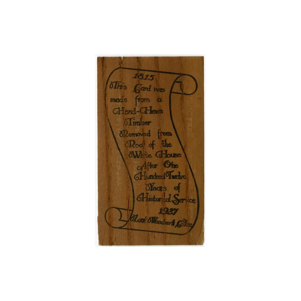 Image: Wood souvenir card