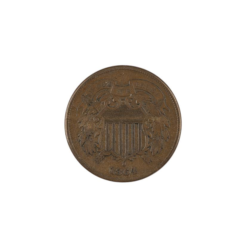 Image: 1864 two-cent piece