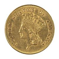 Image: 1862 Liberty Head Three-Dollar Coin