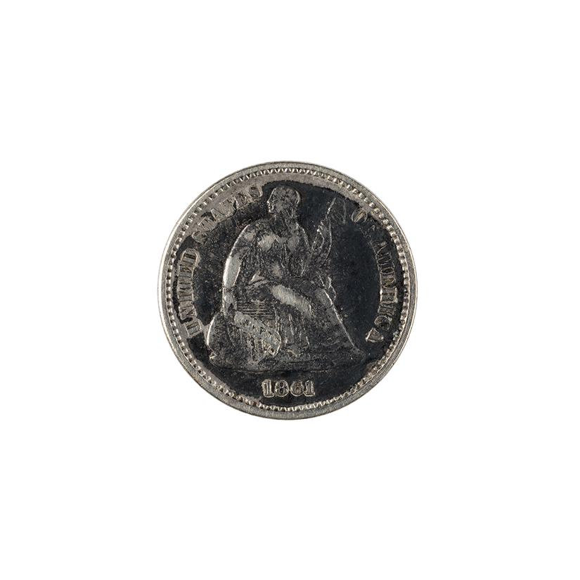 Image: 1861 Seated Liberty Half Dime
