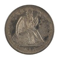 Image: 1861 Seated Liberty Half Dollar Coin